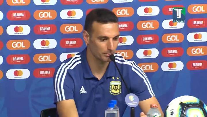 Scaloni y Tité hablaron en el partido previo de semifinal de la Copa América Brasil-Argentina