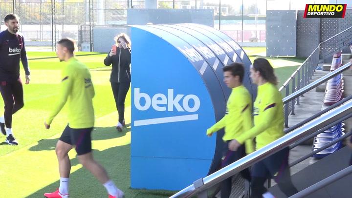 El Barça entrena de cara al próximo partido de Copa del Rey ante el Athletic, el 5 de febrero de 2020, con Messi como protagonista