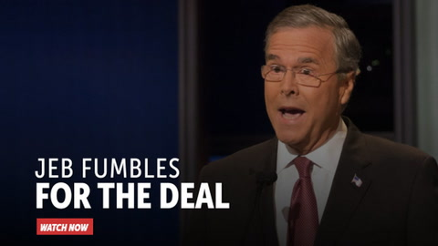 Jeb Fumbles for the Deal