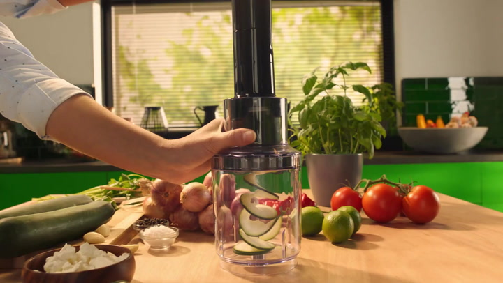 Preview image of Philips ProMix Spiralising Hand Blender, 800W video