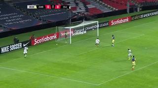 ¡Gol! Jerry Bengtson anotó en el estadio Azteca. Olimpia gana 1-0 al América