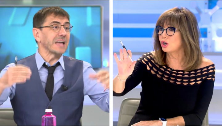 "Rifirrafe entre Ana Rosa Quintana y Monedero: ""Que no tiene ni puta idea..."""