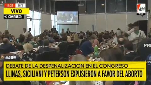 Novaresio le dijo a la diputada Polledo que no puede dejar que las mujeres sigan muriendo