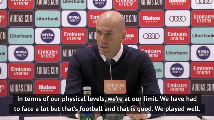 Real 'at the limit' physically says Zidane after Clasico win