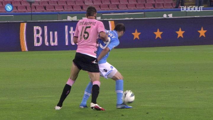 Pandev's assist for Hamsik vs Palermo