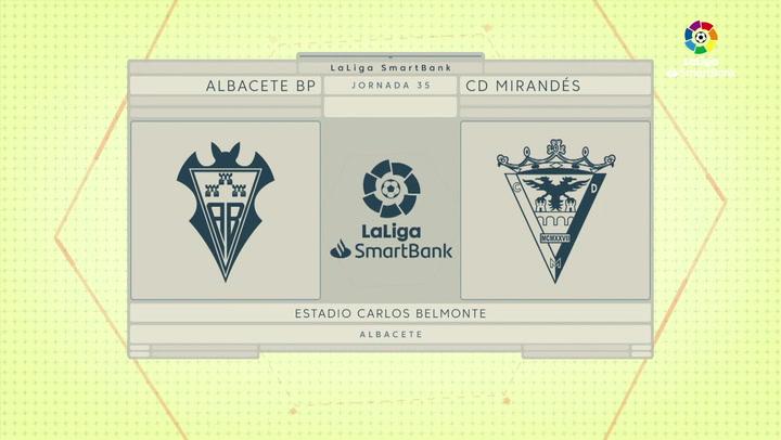 LaLiga SmartBank (J35): Resumen y goles del Albacete 1-1 Mirandés