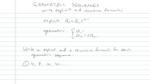 Geometric Sequences - Problem 4