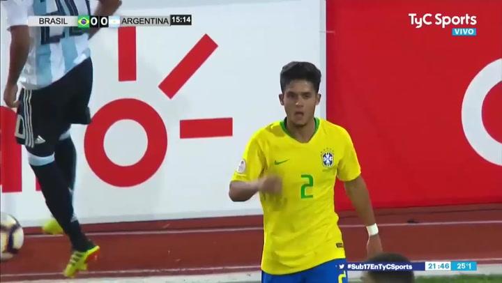 Así juega Yan Couto, que dio una exhibición con Brasil en el Mundial sub-17