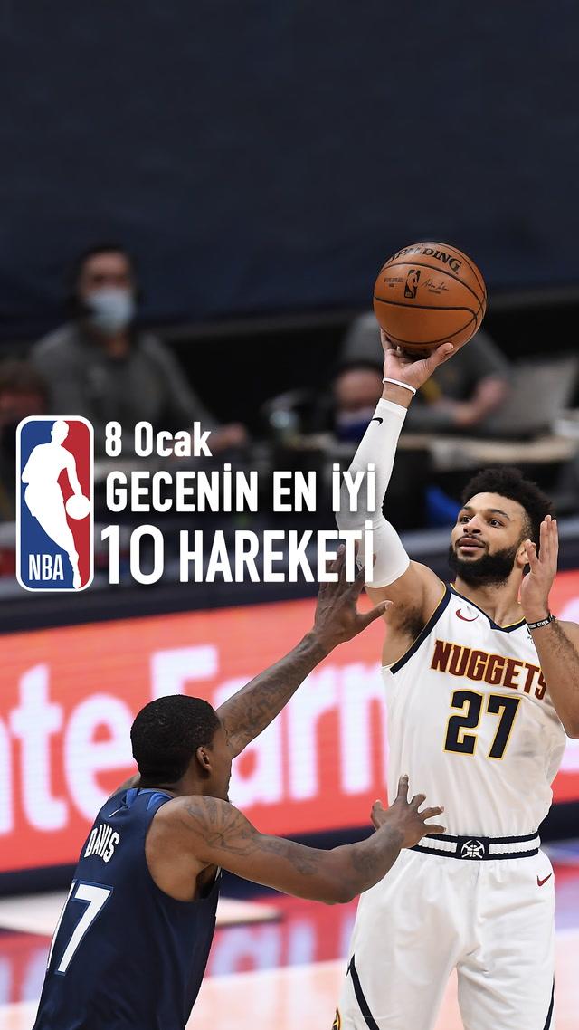 NBA'de gecenin en iyi 10 hareketi / 8 Ocak