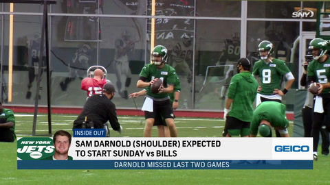 What are the expectations for Sam Darnold and the Jets moving forward?