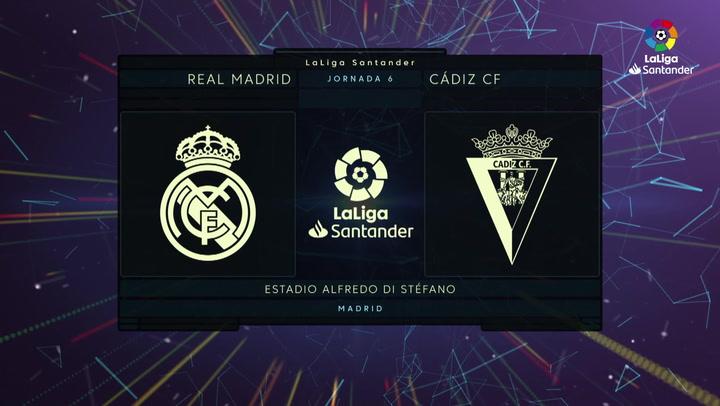 LaLiga Santander (J6): Resumen y gol del Real Madrid 0-1 Cádiz
