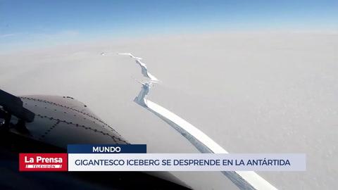 Un gigantesco iceberg se desprende en la Antártida cerca de una estación británica