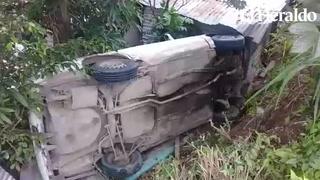 Tegucigalpa: Conductor se salva de morir tras caer a hondonada