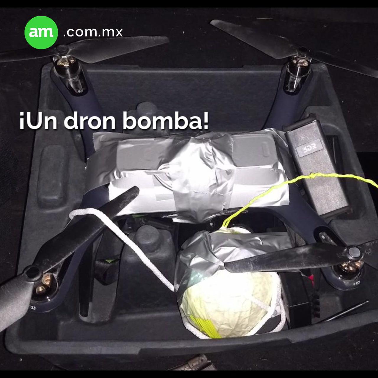 Decomisan ¡dron bomba!