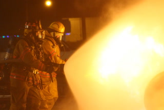 Pine River Fire Department Propane fire training