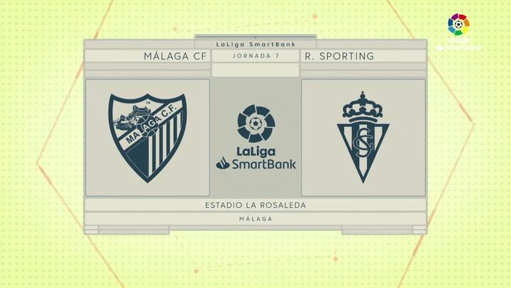 LaLiga SmartBank (J7): Resumen y gol del Málaga 1-0 Sporting
