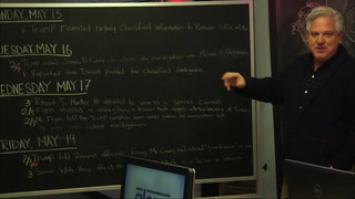 Glenn explains a week in the life of Trump on the chalk board