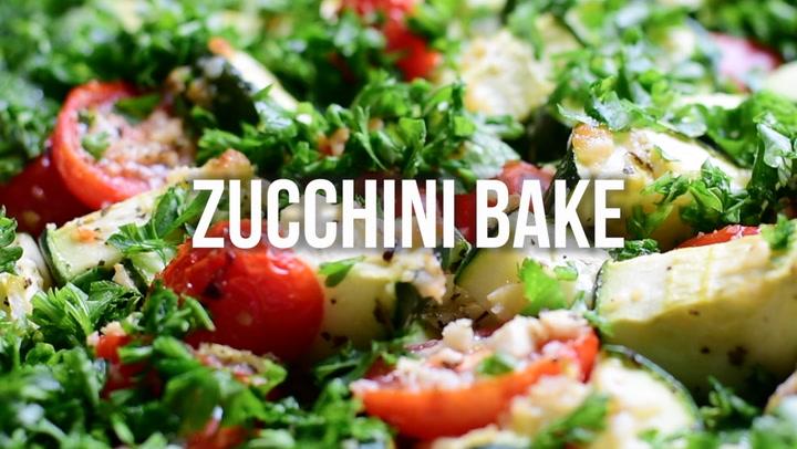 Zucchini Bake with Tomatoes, Garlic and Parmesan - iFOODreal ...