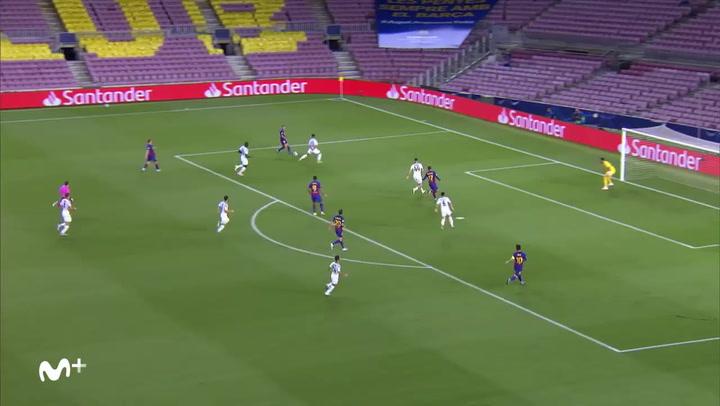 Champions League Barça-Nápoles. Gol anulado a Messi con asistencia de De Jong