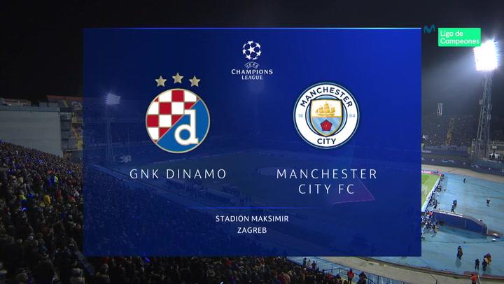 Champions League: Resumen y Goles del Dinamo Zagreb - Manchester City