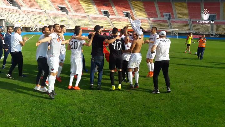 Wild celebrations after win against Vardar