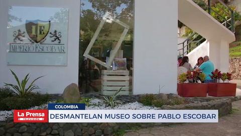 Desmantelan museo sobre Pablo Escobar