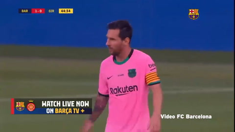 ¡Golazo con la derecha! Messi se luce con doblete en el Barcelona - Girona