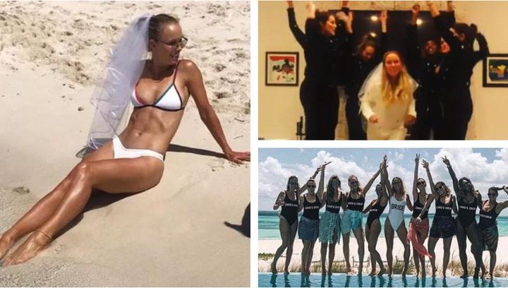 Serena Williams y la novia de Pau Gasol lo dan todo en la despedida de soltera de Caroline Wozniacki