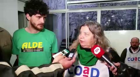 Estudiantes de la FUR apoyaron el paro docente en la UNR