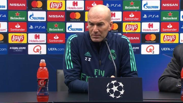 Zidane habla sobre la lesión de Hazard y sobre el Clásico en el Camp Nou