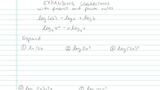 Expanding Logarithms - Problem 4