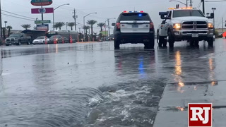 Flooding at E Cheyenne in N. Las Vegas Blvd.