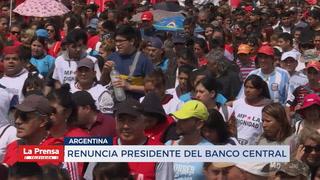 Renuncia el presidente del Banco Central en Argentina