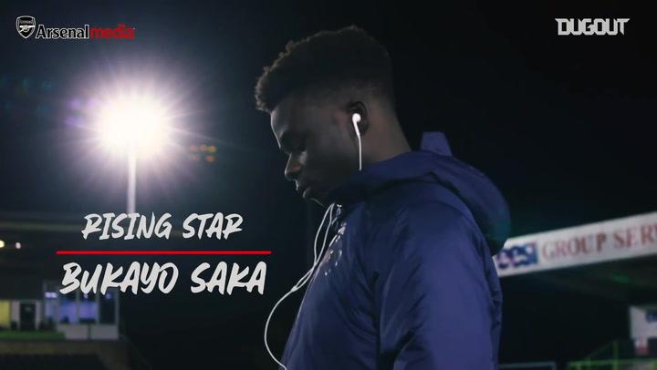 Rising star: Bukayo Saka