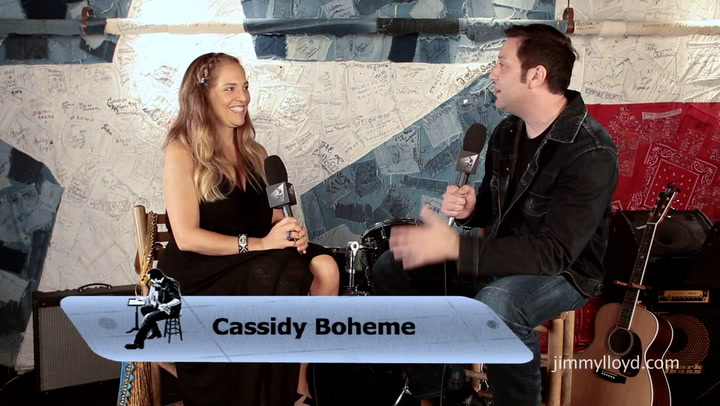Cassidy Boheme is interviewed on The Jimmy Lloyd Songwriter Showcase