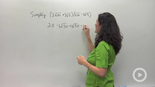 Multiplying and Distributing Radical Expressions - Problem 4