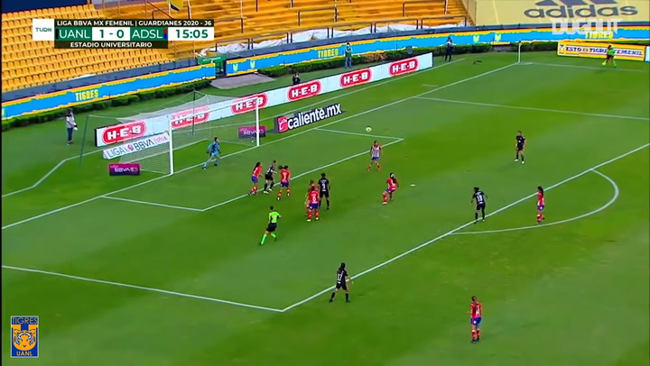 El gran gol de Belén Cruz con Tigres Femenil