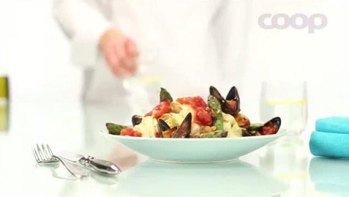 Hvordan lage pasta med blåskjell