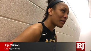 A'ja Wilson talks about the loss to Dallas