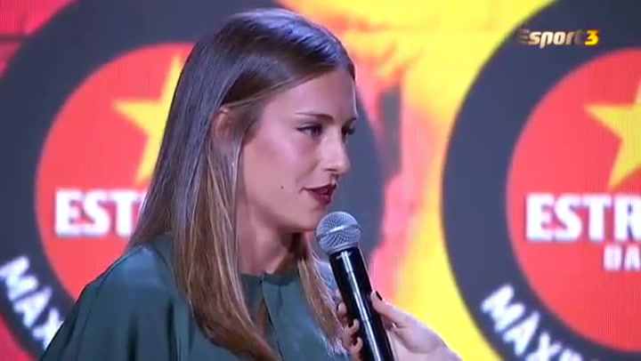 Alexia Putellas,  premiada como máxima goleadora del fútbol catalán