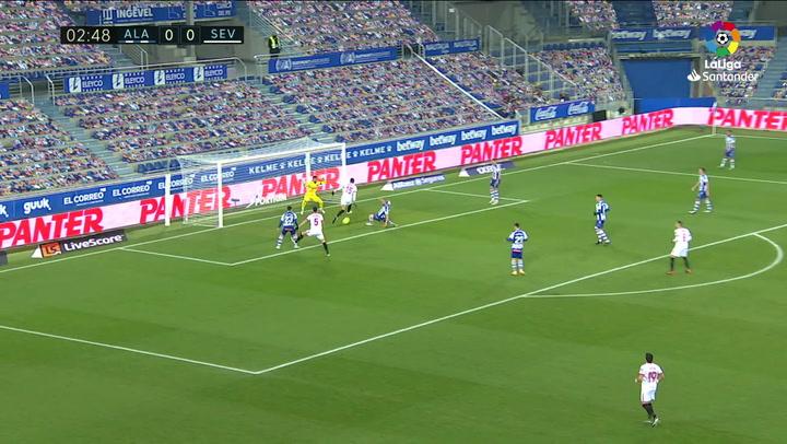 Gol de En-Nesyri (0-1) en el Alavés 1-2 Sevilla