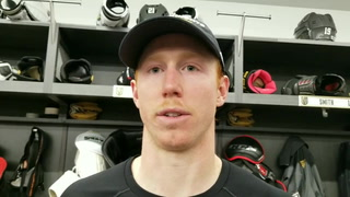 Golden Knights center Cody Eakin on the increase in faceoff violations