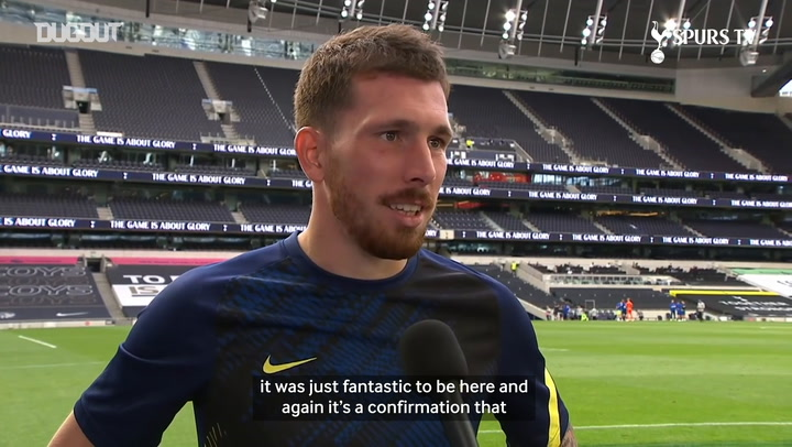 Højbjerg discusses his debut for Spurs