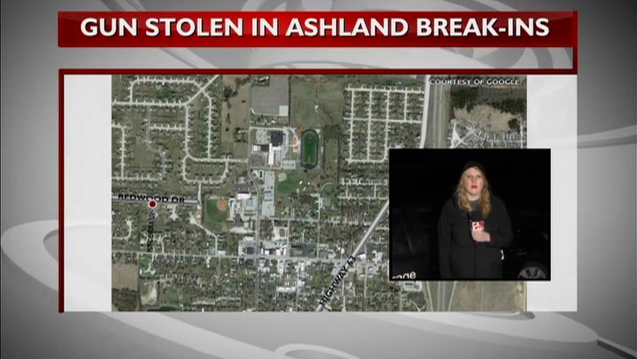 A gun, money stolen from unlocked cars in Ashland