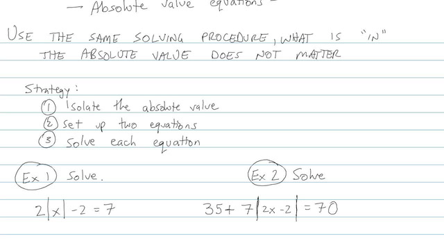 Absolute Value Equations - Problem 6