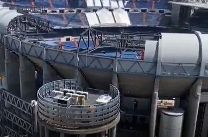 Continúan las obras en el Bernabéu
