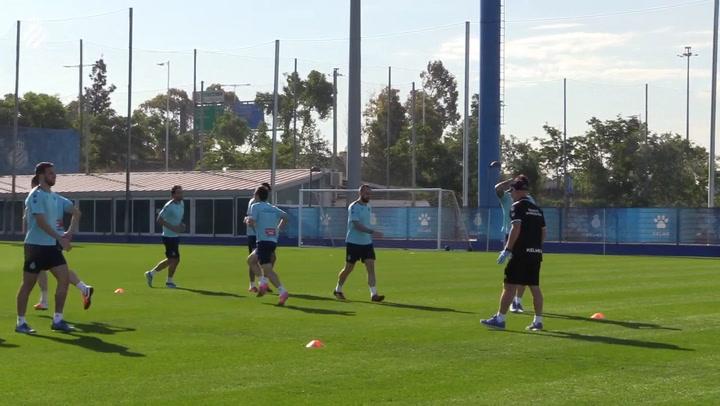 Primer entrenamiento grupal del Espanyol