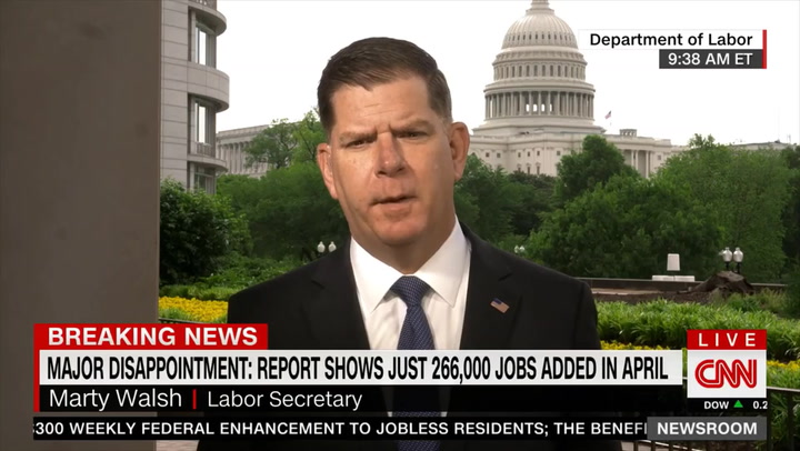 Labor Sec'y Walsh: 'Many' Kids Not in School Full-Time, and That's a Barrier to People Returning to Work