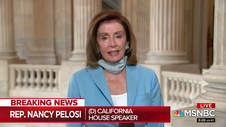 Pelosi on Trump Having Protesters Moved: 'What Is This, a Banana Republic?'