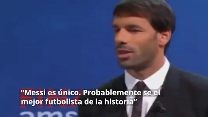 Ruud Van Nistelrooy ya había considerado a Messi el mejor del mundo con anterioridad